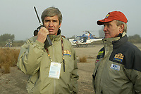 Motor<br /> Paris Dakar 2005<br /> Foto: Dppi/Digitalsport<br /> NORWAY ONLY<br /> <br /> GILLES SCHWEITZER / HELICO - PATRICK ZANIROLI / SPORTING MANAGER