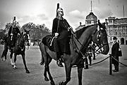 Londyn, 2009-03-05. Żołnierze Królewskiej Straży Konnej