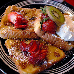The French toast a la mode at the Blue Moon Cafe, a popular all-night breakfast spot in historic Fell's Point, a neighborhood in Baltimore...Photo by Susana Raab