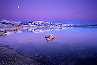 Twilight over Mono Lake, CA.