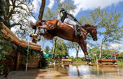 Tim Price on Bango at the Hildon Water Pond on the Cross Country during day four of the 2019 Mitsubishi Motors Badminton Horse Trials at The Badminton Estate, Gloucestershire.