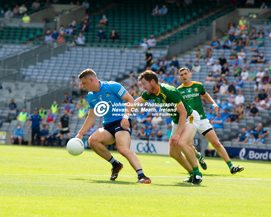 18-07-21. Meath v Dublin - Leinster SFC Semi-Final at Croke Park.<br /> Brian Howard, Dublin in action against Padraic Harnan, Meath in Leinster SFC Semi-Final.<br /> Photo: John Quirke / www.quirke.ie<br /> ©John Quirke Photography, 16 Proudstown Road, Navan. Co. Meath. (info@quirke.ie / 046-9028461 / 087-2579454).