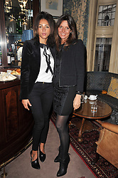 Left to right, ANA ARAUJO and COUNTESS DEBONAIRE VON BISMARCK at a screening of Charlotte Olympia's new film 'To Die For' held at Mark's Club, Charles Street, London W1 on 22nd February 2011.