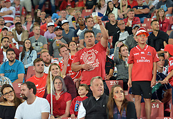 10/03/2018 Rugby fans in the stands wacth Gauteng Lions vs the Auckland Blues at Emirates Airlines Stadium, Ellis Park, Johannesburg, South Africa. Picture: Karen Sandison/African News Agency (ANA)