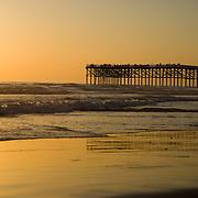 Sunset over Crystal Pier, Pacific Beach, San Diego, CA. Crystal Pier, sunset in Pacific Beach,Southern California.