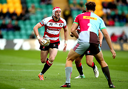 Mason Tonks of Gloucester Rugby runs with the ball - Mandatory by-line: Robbie Stephenson/JMP - 28/07/2017 - RUGBY - Franklin's Gardens - Northampton, England - Harlequins v Gloucester Rugby - Singha Premiership Rugby 7s