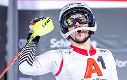 "29.01.2019, Planai, Schladming, AUT, FIS Weltcup Ski Alpin, Slalom, Herren, 2. Lauf, im Bild Albert Popov (BUL) // Albert Popov of Bulgaria reacts after his 2nd run of men's Slalom ""the Nightrace"" of FIS ski alpine world cup at the Planai in Schladming, Austria on 2019/01/29. EXPA Pictures © 2019, PhotoCredit: EXPA/ JFK"