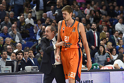 December 19, 2017 - Madrid, Madrid, Spain - Tibor Pleiss, #21 of Valencia pictured during the 2017/2018 Turkish Airlines EuroLeague Regular Season Round 13 game between Real Madrid and Valencia Basket at WiZink center in Madrid. (Credit Image: © Jorge Sanz/Pacific Press via ZUMA Wire)