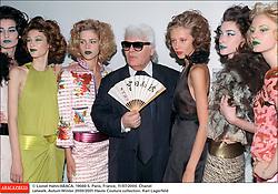 © Lionel Hahn/ABACA. 19560-5. Paris, France, 11/07/2000. Chanel catwalk. Autum Winter 2000/2001 Haute Couture collection. Karl Lagerfeld