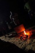 Petrolina_PE, Brasil.<br /> <br /> Preparacao dos instrumentos dos membros do grupo folclorico Samba de Veio em Petrolina, Pernambuco.<br /> <br /> Preparation of the instruments of the members of the folkloric group Samba de veio in Petrolina, Pernambuco.<br /> <br /> Foto: LEO DRUMOND / NITRO