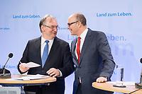 16 MAR 2017, BERLIN/GERMANY:<br /> Reiner Haseloff (L), CDU, Ministerpraesident Sachsen-Anhalt, und Erwin Sellering (R), SPD, Ministerpraesident Mecklenburg-Vorpommern, nach einer Pressekonferenz nach einer Sitzung der Ministerpraesidentenkonferenz, Bundesrat<br /> IMAGE: 20170316-02-019<br /> KEYWORDS: Ministerpräsidentenkonferenz, MPK