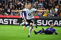 Football UEFA Champions League Q3<br /> Rosenborg - Maribor<br /> Lerkendal Stadium, Trondheim, Norway<br /> 13 August 2019<br /> <br /> Alexander Søderlund har utlignet til 1-1 for Rosenborg<br /> <br /> Foto : Arve Johnsen, Digitalsport