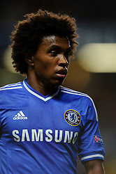 Chelsea Midfielder Willian (BRA) looks on during the first half of the match - Photo mandatory by-line: Rogan Thomson/JMP - Tel: 07966 386802 - 18/09/2013 - SPORT - FOOTBALL - Stamford Bridge, London - Chelsea v FC Basel - UEFA Champions League Group E