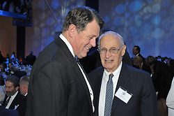 Roland Betts and Edgar Cullman, Sr. Yale University Department of Athletics Blue Leadership Ball 2009. At The Lanman Center before Presentation of Awards to Blue Leader Honorees and Speeches.