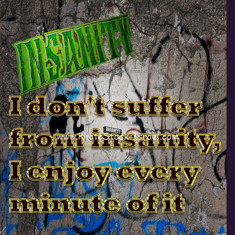 Famous humourous quotes series: I don't suffer from insanity. I enjoy every minute of it