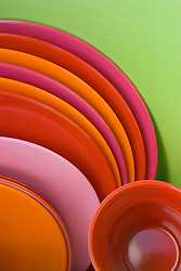 Detail of picnic set in hot colours