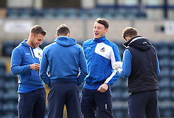 Bristol Rovers player share a joke while inspecting the pitch - Mandatory byline: Robbie Stephenson/JMP - 27/02/2016 - FOOTBALL - Adams Park - Wycombe, England - Wycombe Wanderers v Bristol Rovers - Sky Bet League Two