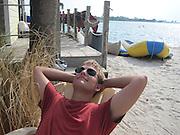 Louis Focht relaxes at the San Destin Resort in San Destin, Florida.