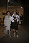 RUTH BOTTS AND RUTH FITZGIBBONS, Private Preview of the Grosvenor House Art and Antiques Fair. 13 June 2007.  -DO NOT ARCHIVE-© Copyright Photograph by Dafydd Jones. 248 Clapham Rd. London SW9 0PZ. Tel 0207 820 0771. www.dafjones.com.