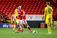 AFC Wimbledon midfielder Jack Rudoni (12) watches Charlton Athletic midfielder Jonathan Williams (7) celebate goal during the EFL Sky Bet League 1 match between Charlton Athletic and AFC Wimbledon at The Valley, London, England on 12 December 2020.