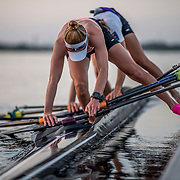 Olivia Loe and Brooke Donoghue New Zealand Womens Double Scull<br /> <br /> Training at the World Championships, Sarasota, Florida, USA Monday 25 September 2017. Copyright photo © Steve McArthur / Rowing NZ