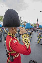 Gen Apirat Kongsompong (red jacket), Coronation of the King of Thailand, Rama X, His Majesty King Maha Vajiralongkorn Bodindradebayavarangkun, Bangkok, Tahaziland, Photo: Loic Baratoux For ABACAPRESS