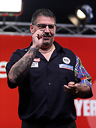 Gary Anderson during the 2018 Players Championship Finals at Butlins Minehead, Minehead, United Kingdom on 24 November 2018.