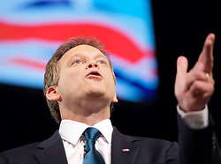 Conservative Party Conference, ICC, Birmingham, Great Britain <br /> Day 1<br /> 7th October 2012 <br /> <br /> <br /> Rt Hon Grant Shapps MP<br /> Chairman of the Conservatives <br /> <br /> Photograph by Elliott Franks<br /> <br /> Tel 07802 537 220 <br /> elliott@elliottfranks.com<br /> <br /> ©2012 Elliott Franks<br /> Agency space rates apply