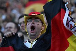 23.06.2010, Olympiapark, Muenchen, GER, FIFA Worldcup, Puplic Viewing Ghana vs Deutschland  im Bild Fan mit Fahne, EXPA Pictures © 2010, PhotoCredit: EXPA/ nph/  Straubmeier / SPORTIDA PHOTO AGENCY