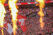 Arsenal fans during the The FA Cup final match between Arsenal and Chelsea at Wembley Stadium, London, England on 27 May 2017. Photo by Shane Healey.