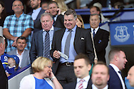 England Manager Sam Allardyce smiles as he makes his way to his seat in the stands before k/o. Premier league match, Everton v Stoke city at Goodison Park in Liverpool, Merseyside on Saturday 27th August 2016.<br /> pic by Chris Stading, Andrew Orchard sports photography.