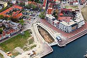 Nederland, Zeeland, Walcheren, 09-05-2013; Vlissingen, binnenstad met Dokje van Perry.<br /> Flushing with histoircal dock.<br /> luchtfoto (toeslag op standard tarieven)<br /> aerial photo (additional fee required)<br /> copyright foto/photo Siebe Swart