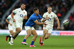 Samoa's Tim Nanai-Williams in action during the Autumn International at Twickenham Stadium, London. PRESS ASSOCIATION Photo. Picture date: Saturday November 25, 2017. See PA story RUGBYU England. Photo credit should read: Paul Harding/PA Wire. RESTRICTIONS: Editorial use only, No commercial use without prior permission