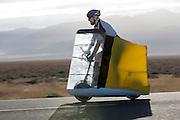 In de vroege ochtend worden de kwalificaties gereden. In de buurt van Battle Mountain, Nevada, strijden van 10 tot en met 15 september 2012 verschillende teams om het wereldrecord fietsen tijdens de World Human Powered Speed Challenge. Het huidige record is 133 km/h.<br /> <br /> The qualification in the early morning. Near Battle Mountain, Nevada, several teams are trying to set a new world record cycling at the World Human Powered Vehicle Speed Challenge from Sept. 10th till Sept. 15th. The current record is 133 km/h.
