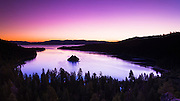 Dawn light over Emerald Bay on Lake Tahoe, Emerald Bay State Park, California USA