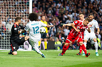 Real Madrid Marcelo and Bayern Munich Sven Ulreich during Semi Finals UEFA Champions League match between Real Madrid and Bayern Munich at Santiago Bernabeu Stadium in Madrid, Spain. May 01, 2018. (ALTERPHOTOS/Borja B.Hojas)