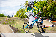 #300 (ALVES DOS SANTOS Julia) BRA at Round 4 of the 2019 UCI BMX Supercross World Cup in Papendal, The Netherlands