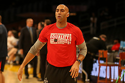 February 27, 2019 - Los Angeles, CA, U.S. - LOS ANGELES, CA - FEBRUARY 27: New Orleans Pelicans assistant Fred Vinson before the New Orleans Pelicans versus Los Angeles Lakers game on February 27, 2019, at Staples Center in Los Angeles, CA. (Photo by Icon Sportswire) (Credit Image: © Icon Sportswire/Icon SMI via ZUMA Press)