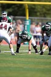 08 September 2012:  Niall Mulcahy during an NCAA division 3 football game between the Alma Scots and the Illinois Wesleyan Titans which the Titans won 53 - 7 in Tucci Stadium on Wilder Field, Bloomington IL