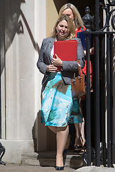 Downing Street, London, July 19th 2016. Secretary of State for Culture, Media and Sport Karen Bradley and Justice Secretary and Lord Chancellor Liz Truss leave the first full cabinet meeting since Prime Minister Theresa May took office.