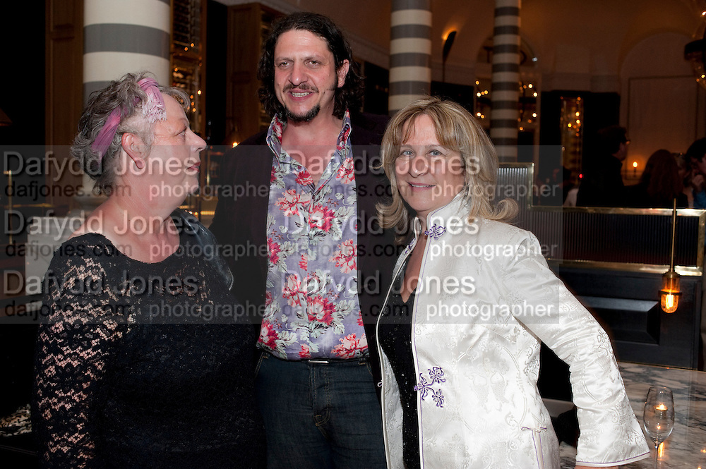 JO BRAND; JAY RAYNER; BARONESS HELENA KENNEDY, Massimo's restaurant at the Corinthia Hotel, Whitehall  host the after party  for 'Claire Rayner's benefit show' 5 June 2011. <br /> <br />  , -DO NOT ARCHIVE-© Copyright Photograph by Dafydd Jones. 248 Clapham Rd. London SW9 0PZ. Tel 0207 820 0771. www.dafjones.com.