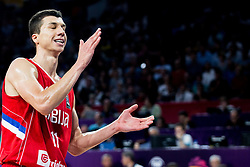 Vladimir Lucic of Serbia reacts during basketball match between National Teams of Italy and Serbia at Day 14 in Round of 16 of the FIBA EuroBasket 2017 at Sinan Erdem Dome in Istanbul, Turkey on September 13, 2017. Photo by Vid Ponikvar / Sportida