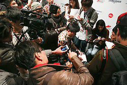 Media madness for Hong Kong star Aaron Kwok<br /> CSI 5* Longines Hong Kong Masters 2013<br /> Longines Grand Prix<br /> © Hippo Foto - Counet Julien