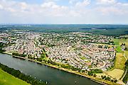 Nederland, Gelderland, Gemeente Heumen, 26-06-2013; Malden met Maas-Waalkanaal in de voorgrond. Groesbeekse bos.<br /> luchtfoto (toeslag op standaard tarieven);<br /> aerial photo (additional fee required);<br /> copyright foto/photo Siebe Swart.