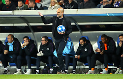 Manchester City manager Pep Guardiola gestures on the touchline