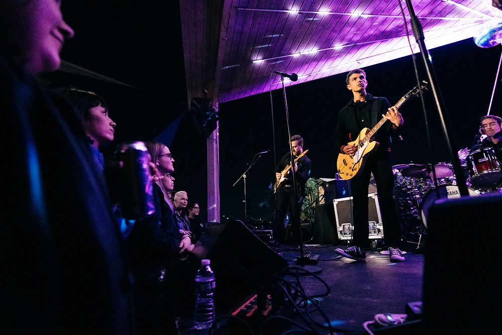 BROOKLYN, NY/US - SEPTEMBER 18, 2019: Phantom Planet perform onstage at Elsewhere Rooftop in Bushwick. PHOTO CREDIT: Eric M. Townsend