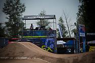 DJ Uncle R at the 2014 UCI BMX Supercross World Cup in Santiago Del Estero, Argentina.