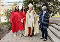 Blessed Sacrament Confirmation Celebration was held on April 10, 2021, at 10:00 AM in Walpole MA. Images by Dan Busler Photography Walpole MA