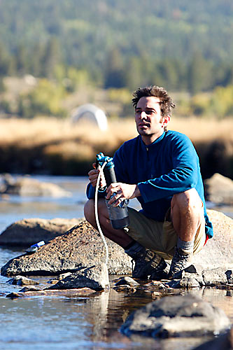 Jason Reale backpacking in the Sierra Nevadas near Hope Valley, CA.<br />
