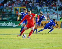 Wayne Rooney of England (Manchester United) scores a penalty to equal Sir Bobby Charlton's goals record for England  - Mandatory byline: Joe Meredith/JMP - 07966386802 - 05/09/2015 - FOOTBALL- INTERNATIONAL - San Marino Stadium - Serravalle - San Marino v England - UEFA EURO Qualifers Group Stage